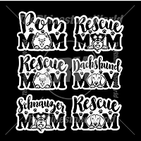 Dog Mom Decal Mini Pack 4